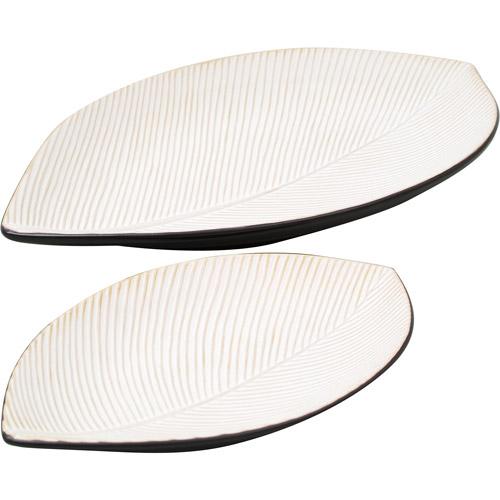 Catappa 2pc Almond Platter Set