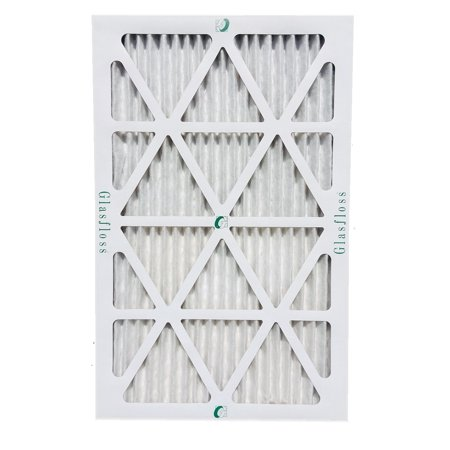 6 Pack of 12x25x1 MERV 10 Pleated Air Filters by Glasfloss. Actual Size: 11-1/2 x 24-1/2 x 7/9