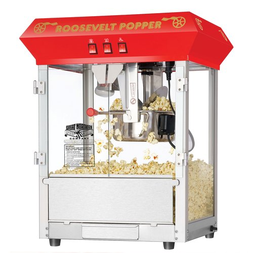 Great Northern Red 8-Ounce Antique Countertop Style Popcorn Popper Machine