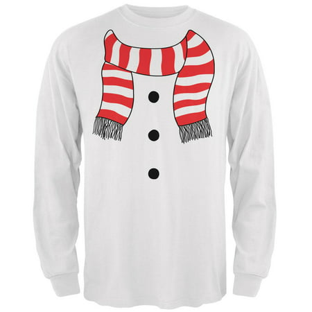 Halloween Snowman Suit Costume White Adult Long Sleeve - Long Halloween Slideshow