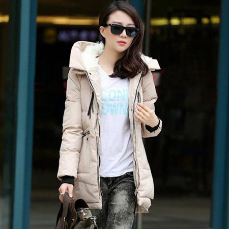 4ee52817d Winter Women's Thickened Down Jacket Puffer Down Coat Hooded Long Parka  Overcoat Outwear