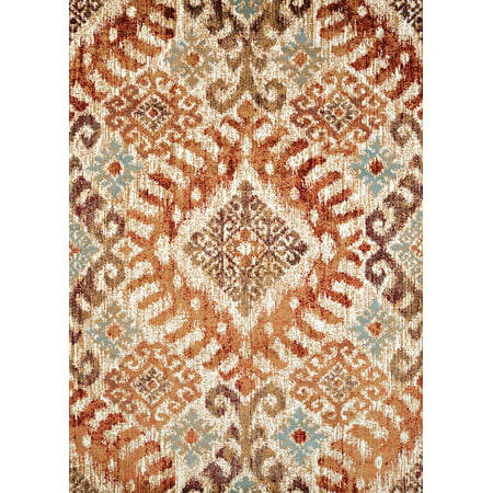 United Weavers Amarna Verazanno Distressed Crimson Woven Olefin Area Rug or Runner ()