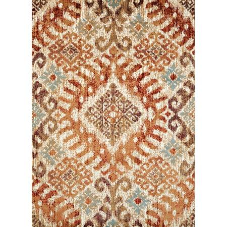- United Weavers Amarna Verazanno Distressed Crimson Woven Olefin Area Rug or Runner