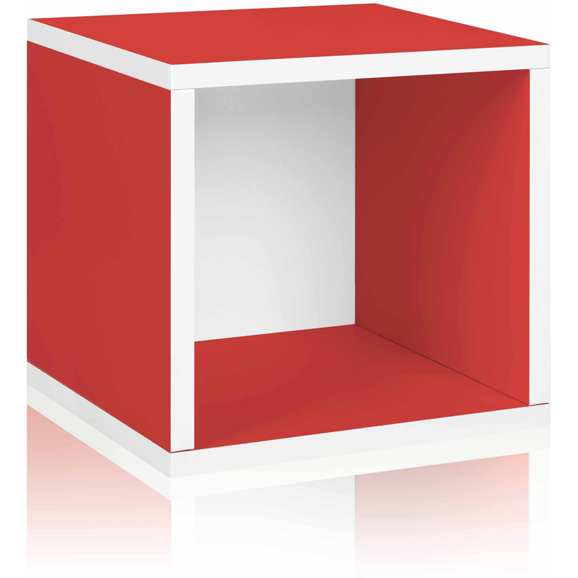 Way Basics Eco Stackable Storage Cube and Cubby Organizer, Red