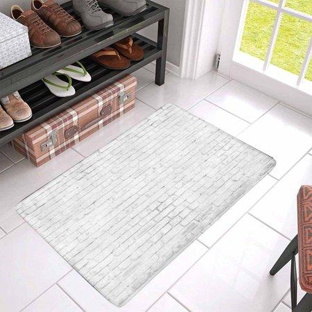 YUSDECOR Vintage White Brown Brick Wall Doormat Rug Home Decor Floor Mat Bath Mat 30x18 inch - image 2 of 3
