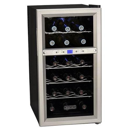 Koldfront TWR181E 14 Inch Wide 18 Bottle Wine Cooler with Dual Thermoelectric Cooling Zones Dual Zone Wine Cooler Reviews
