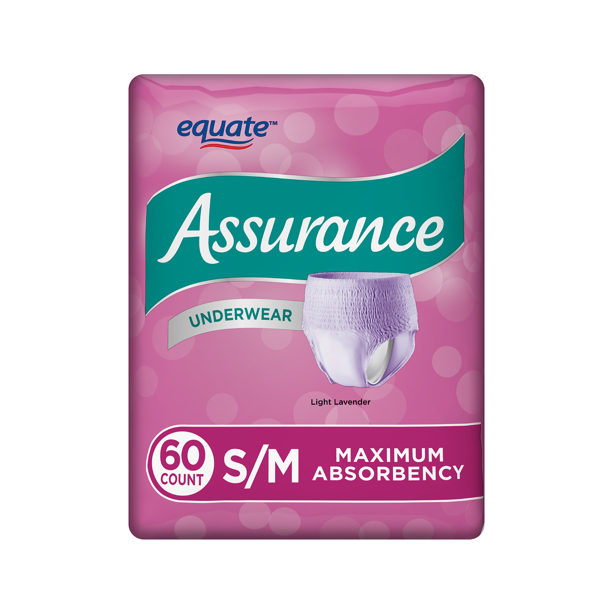 Assurance Incontinence Underwear for Women, Maximum, S/M, 60 Ct