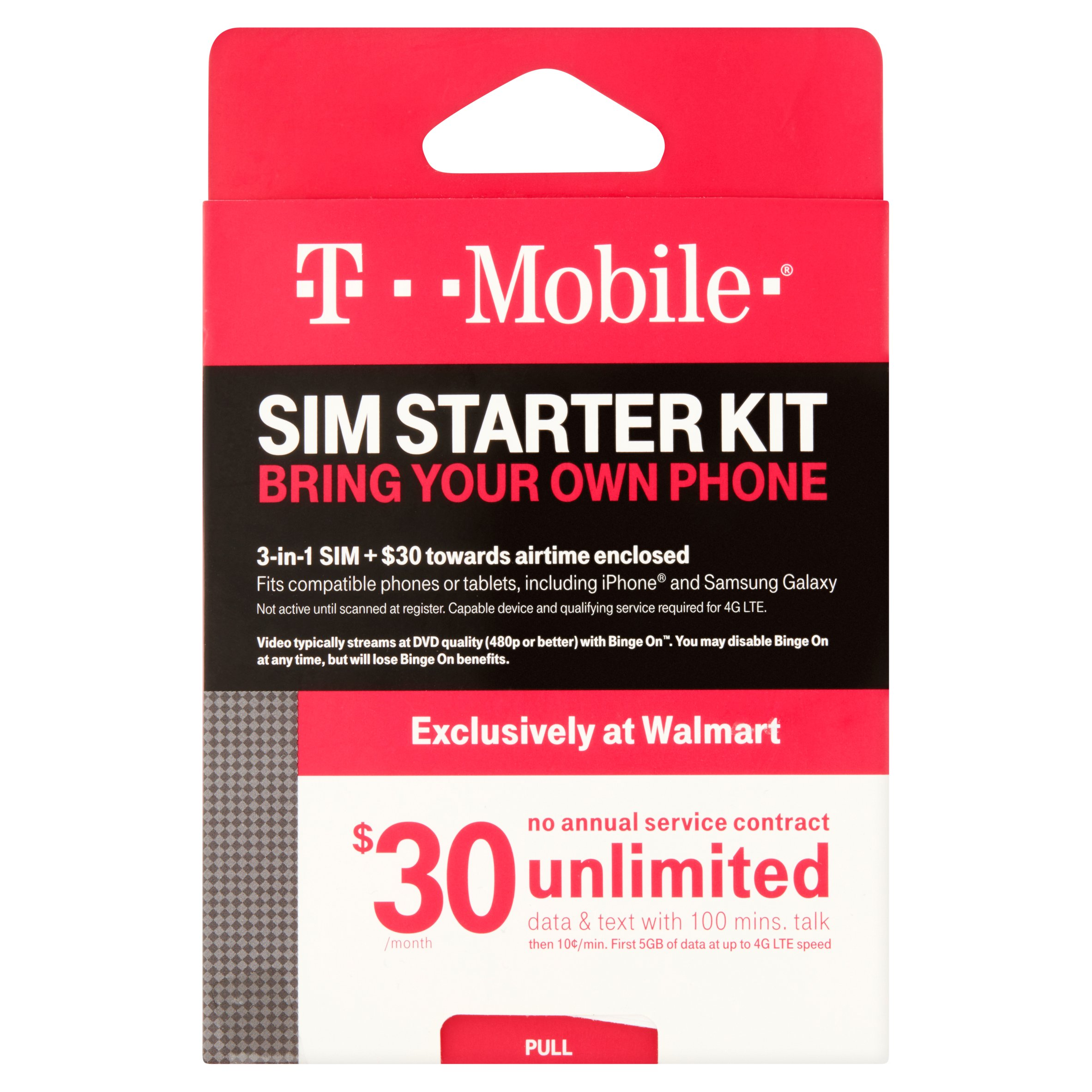 and Data for 14 days For use in United States Text T-Mobile Prepaid SIM Card Unlimited Talk