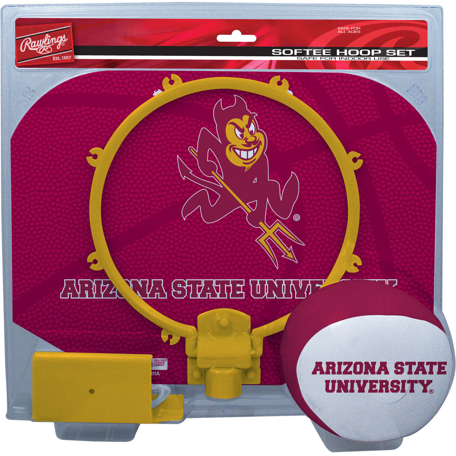 Rawlings NCAA Slam Dunk Softee Hoop Set Arizona State University Sun Devils