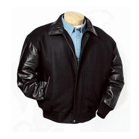 BurkS Bay 5320-4XL XLarge Wool and Premium Lamb Jacket in Black