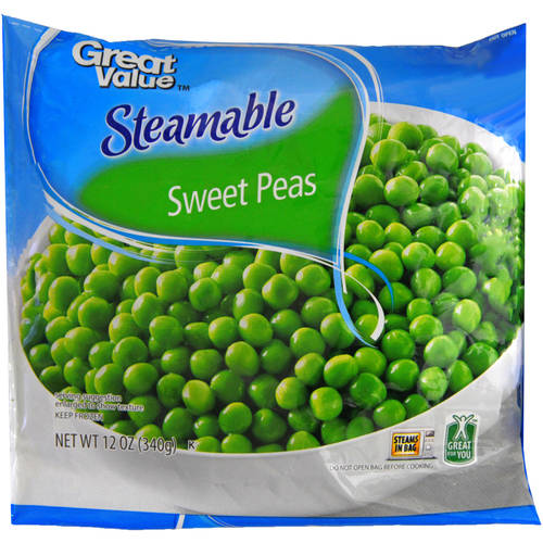 Great Value Steamable Sweet Peas, 12 Oz