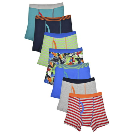 Wonder Nation Boy's Boxer Briefs, 7 Pack, Medium