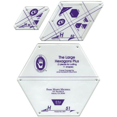 Perfect Patchwork Template, Set H , Large Hexagon Set
