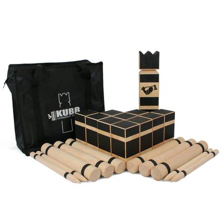 Kubb Game Viking Chess Premium Hardwood Kubb Set