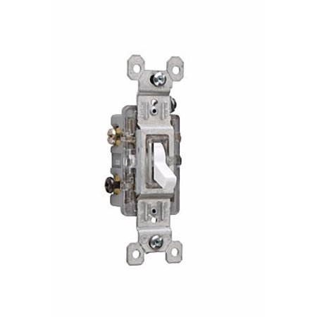 pass and seymour 663wslg residential grade white three way illuminated toggle switch 15a 120v ac. Black Bedroom Furniture Sets. Home Design Ideas