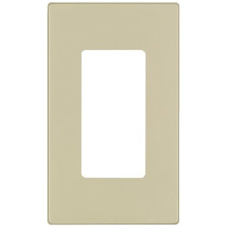 Decora Screwless Wall Plate Insert (Leviton 80301-SI Ivory Screwless Snap-On Polycarbonate Single Gang Decora Wall Plate )