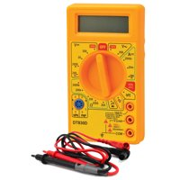 Digital Multimeter, Model M-830D - 200mV - 1000 V 0.5% 2Digit - Testing Leads, Battery & Instructions Included - Eisco Labs