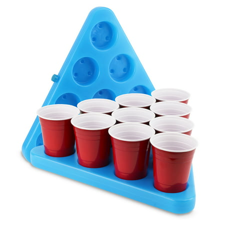 GoPong N-Ice Rack Freezable Drinking Beer Pong Party Rack Set, Includes 2-Racks, 3-Balls and Game Rules - Party City Beer Pong Table