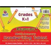 Pacon Multi-Sensory Handwriting Tablet, 10-1/2 x 8 inches, 40 Sheets