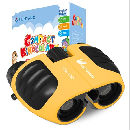 LONTANO Compact Shock Proof Binoculars for Kids 8 x 21 with High-Resolution Real Optics, Best Gift for Boys & Girls Toys 3-12 Year