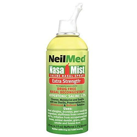 3 Pack - NeilMed Hypertonic NasaMist Saline Spray 4.20oz Each