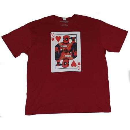 Deadpool (Marvel Comics) Mens T-Shirt -  King of Hearts Deadpool Card Image](Wallpapers Of Deadpool)