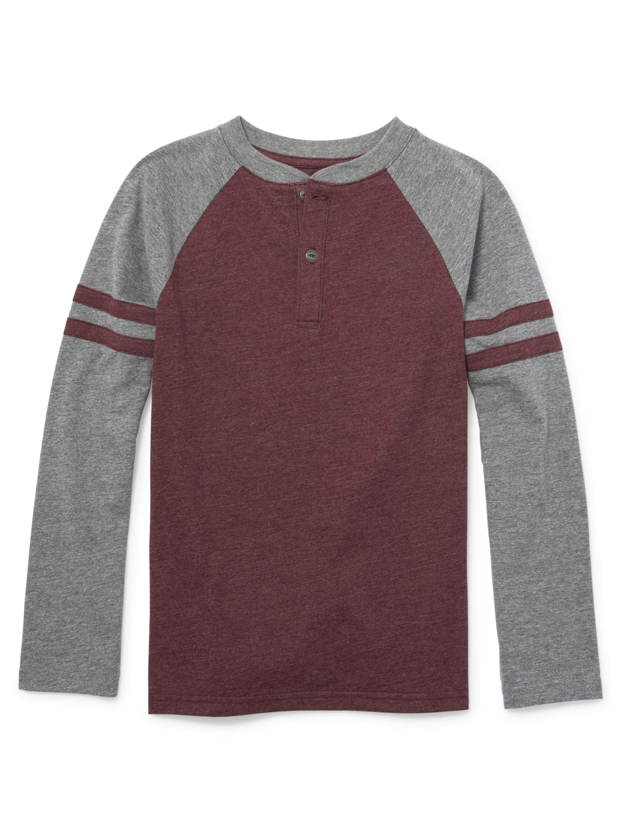 The Children's Place Long Sleeve Raglan Henley Tee Shirt (Little Boy & Big Boy)
