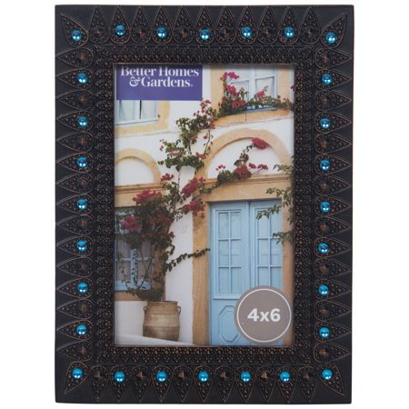Better Homes and Gardens Jewel Accent Picture (Crystal Blue Fade Frame)