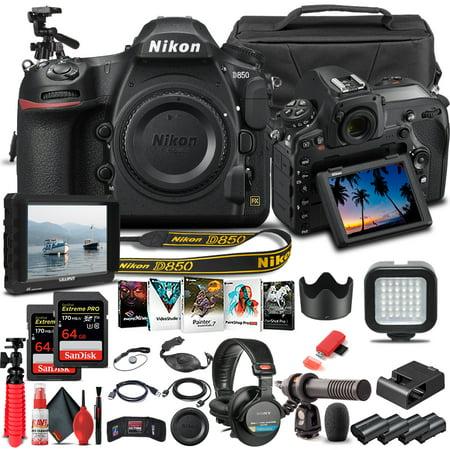 Nikon D850 DSLR Camera Body Only 1585 - Pro Bundle