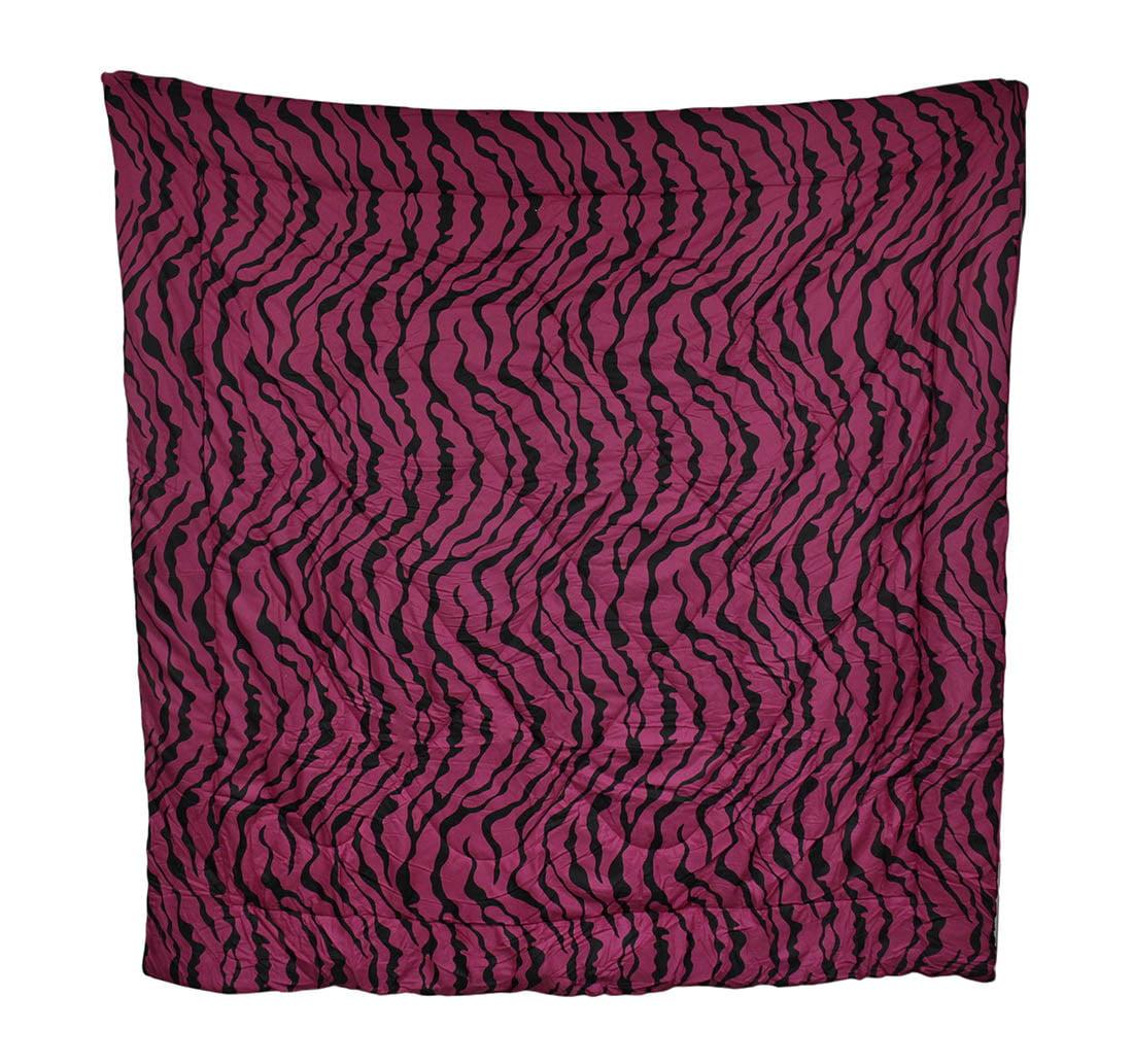 Hot Pink and Black Zebra Stripe Comforter Full/Queen