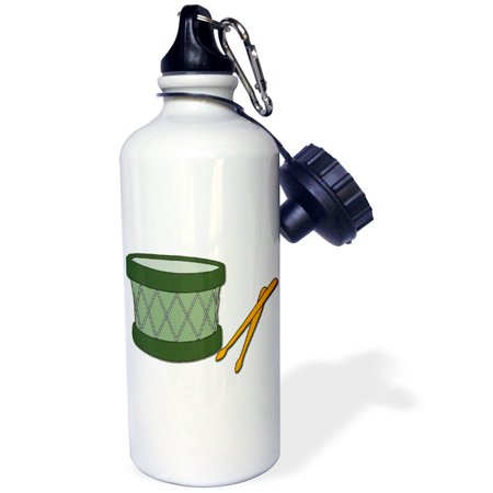3dRose Holiday Drum And Sticks, Sports Water Bottle, 21oz