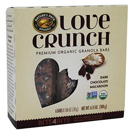 Nature's Path Organic Love Crunch Premium Organic Granola Bars Dark Chocolate Macaroon 6.35 oz. (Pack of 1)