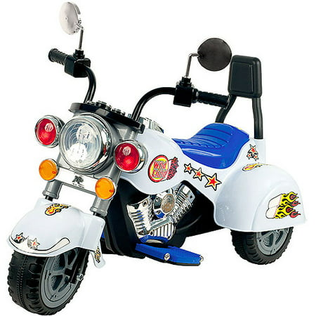 Lil' Rider White Knight 3-Wheel Motorcyle 6-Volt Battery-Powered Ride-On