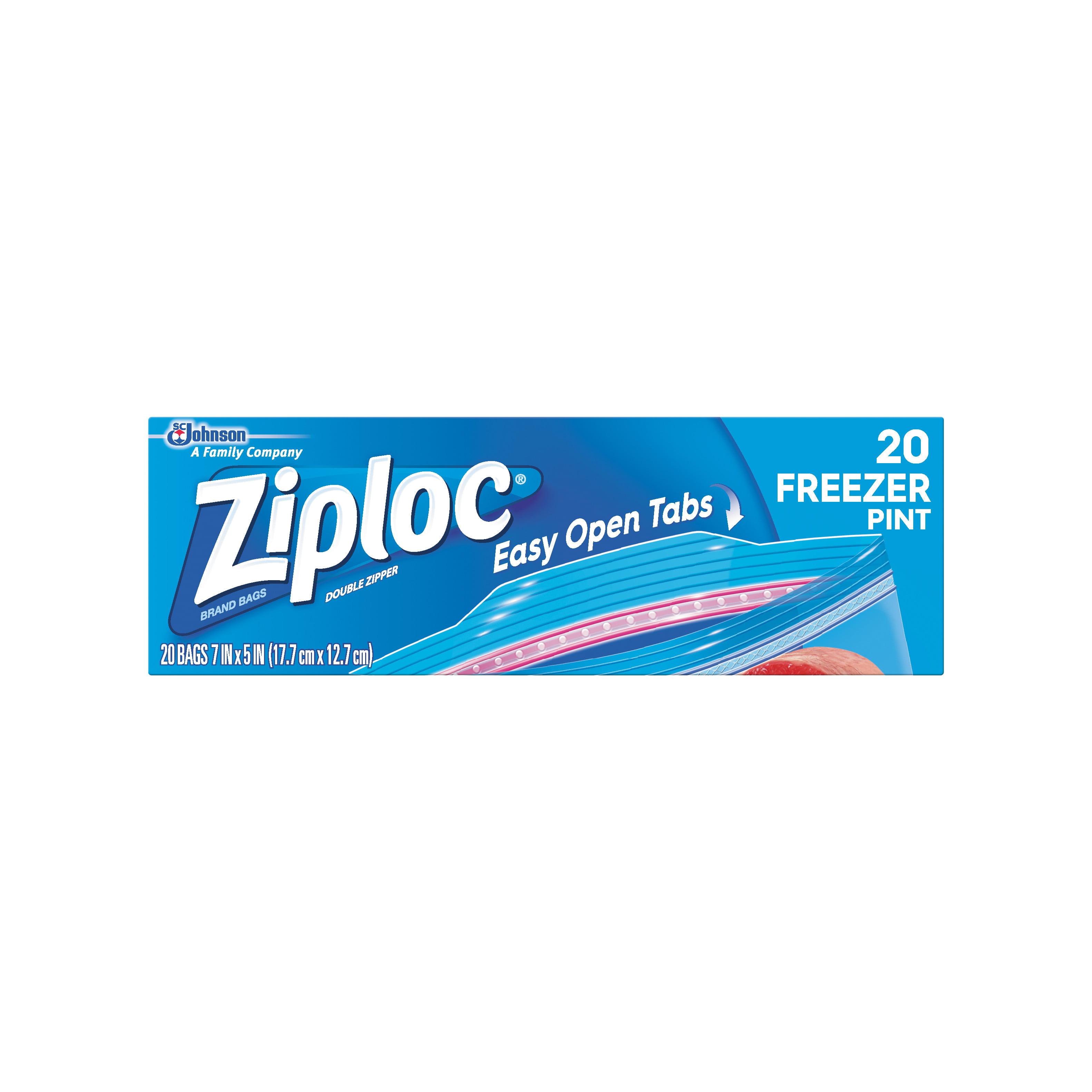 Ziploc Freezer Bags Pint 20 count