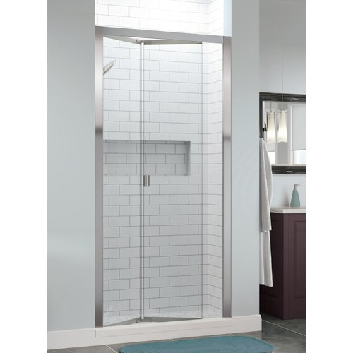 Basco Infinity Bifold 35'' x 72'' Folding Semi-Frameless Shower Door