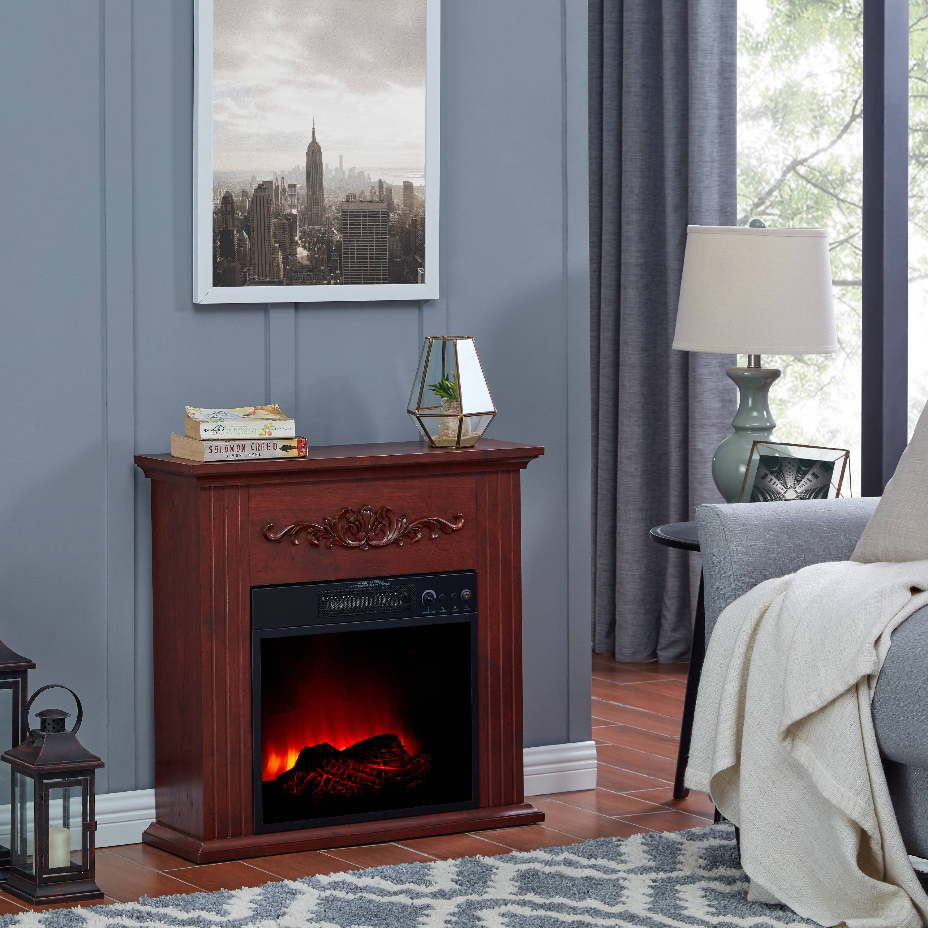 Click here to buy Bold Flame 28 inch Electric Fireplace Heater, Chestnut by Generic.