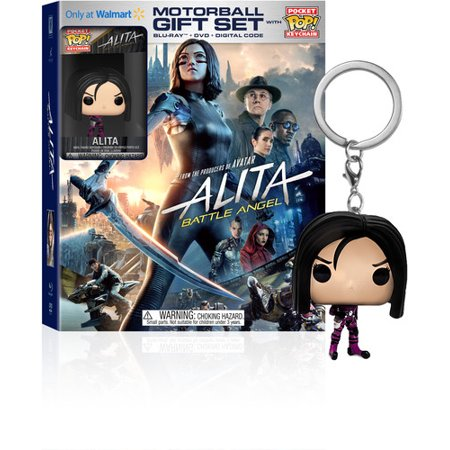 Alita: Battle Angel Limited Edition Gift Set (Blu-ray + DVD + Digital Copy + Funko Keychain) (Walmart (Ray Set)