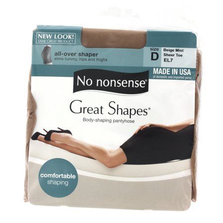 No Nonsense Women's Great Shapes All-Over Shaper Pantyhose
