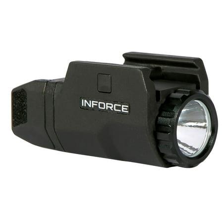 InForce APLc Compact LED Light For Compact Pistols 200 Lumens, Black -