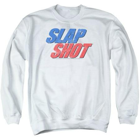Slap Shot Hockey Comedy Film Ice Texture Logo Adult Crewneck Sweatshirt
