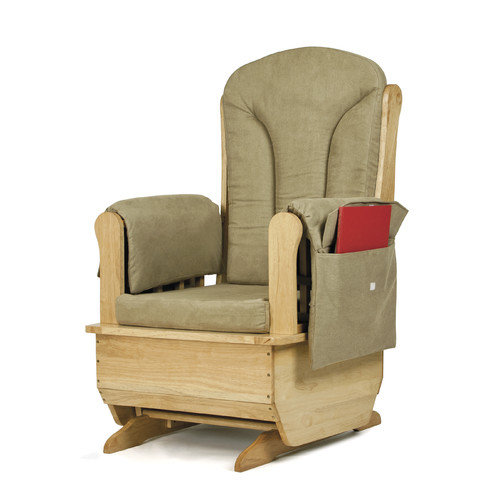 Glider Rocker in Olive Cushions