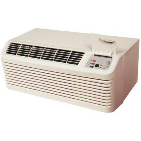 AMANA PTAC Air Conditioner,7700 BtuH,230/208V PTC073G25AXXX Packaged Terminal Air Conditioner, BtuH Cooling 7700, BtuH Heating 8500/6800, 208/230VAC, EER - Air Conditioners and Heat Pumps 11.5/11.7, Seacoast Protection No, 6-15P, Heating kW 2.5, 60 Hz, 1 Phase, Min. Circuit Amps 3.5, Power Supply 15A, Power Cord Length 3 ft., Refrigerant Type R-410AFeaturesItem - Air Conditioners and Heat Pumps: Packaged Terminal Air ConditionerMin. Circuit Amps: 3.5Requires: Wall Sleeve and Exterior GrilleNEMA Plug Configuration - Air Conditioners and Heat Pumps: 6-15PVoltage: 230/208Heating kW: 2.5Refrigerant Type: R-410aNEMA Plug Configuration: 6-15PPower Cord Length: 3 ft.Item: Packaged Terminal Air ConditionerHz: 60Power Supply: 15AEER: 11.5/11.7Phase: 1BtuH Heating: 8500/6800Seacoast Protection: NoEER - Air Conditioners and Heat Pumps: 11.5/11.7Voltage - Air Conditioners and Heat Pumps: 208/230VACIncludes: Power cordBtuH Cooling: 7700