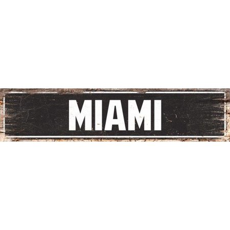Halloween Store Miami (MIAMI Street Plate Sign Bar Store Shop Cafe Home Kitchen Chic Decor)