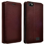 Apple iPhone 6s / 6 Case, Pu Leather Magnetic Fold Wallet Case[Kickstand] with ID & Card Slots for Iphone 6S/6 - Brown