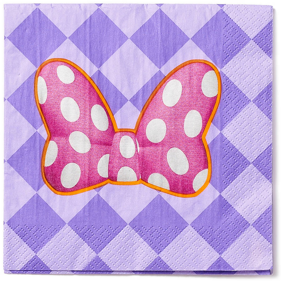 Minnie Mouse Bow-Tique Party Paper Lunch Napkins, 16ct