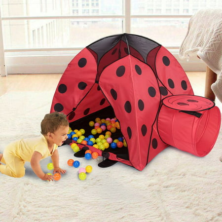 Great Ventilation - Red Foldable Children Beetle Shape Play Tent Kids Baby Pop-Up Play Game Toy Tent House Ultralarge Ventilation for Indoor and Outdoor UseWith Carry Bag