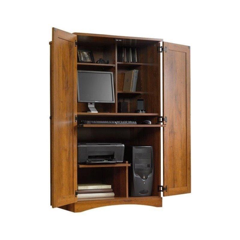 Pemberly Row Computer Armoire in Abbey Oak