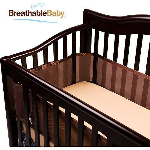 BreathableBaby - Breathable Crib Liner, Fits All Cribs, Brown