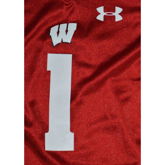 official photos 33aff 3de03 Under Armour Wisconsin Badgers Little Boys Size 7 Football Jersey Red White