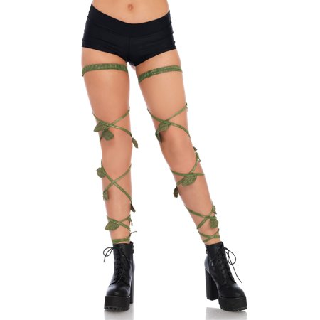 Leg Avenue Women's Ivy Leg Wraps Adult Costume Accessory, One Size, green](Easy Poison Ivy Costume)